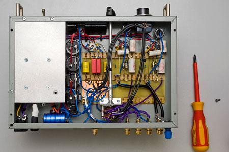Phono-Line-Verstärker Innenansicht
