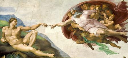 Michelangelo - Die Erschaffung des Adam