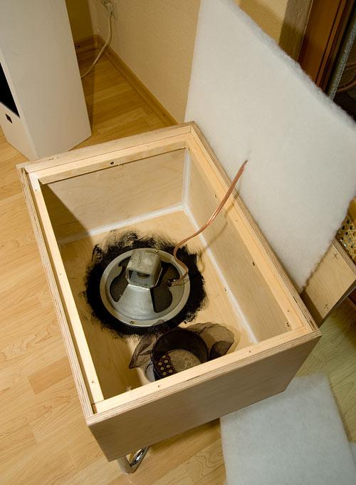 DIY-Lautsprecherbox nach Wilimzig, Innenansicht