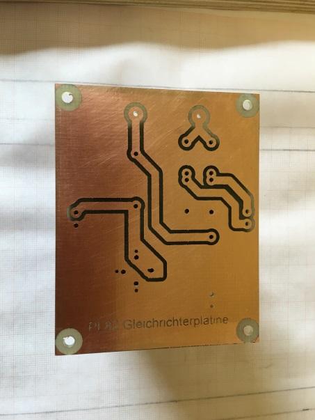 Gleichrichterplatine