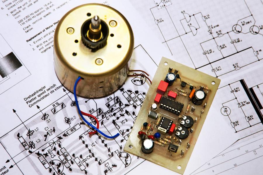 Motor EDS500 mit Nachbau der Regelelektronik