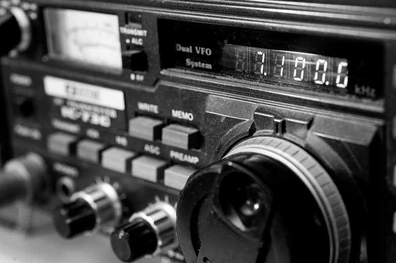 7,1 MHz - 40m-Band - hier führte Wim sein letztes Telegrafie-QSO