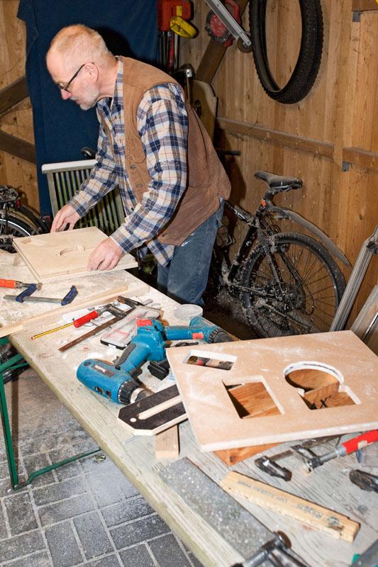 bastlerisches Chaos in Meinolfs Fahrradschuppen