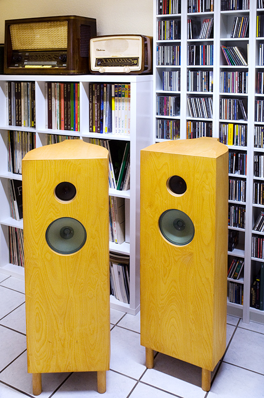 ... auffallend schlicht: die SABA Celli des Audionisten - Foto © Michael Münch