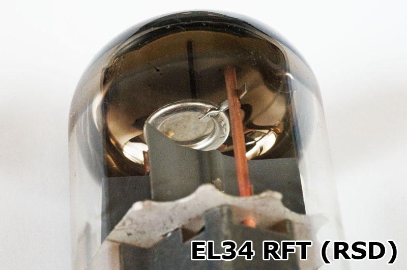 Die EL34 von RFT (RSD) verfügt über ein scheibenförmiges Getter.