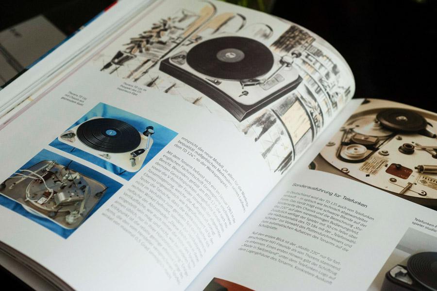 Schweiz Buch Thorens TD124 Spieler Geschichte Historie Garrad Lenco